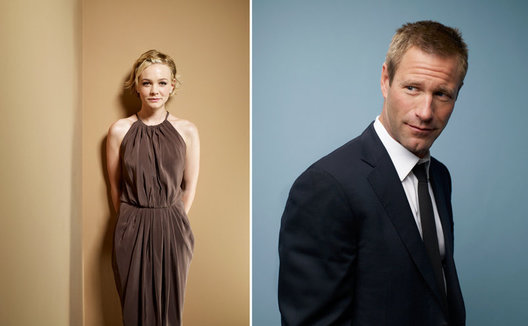 Carey Mulligan and Aaron Eckhart