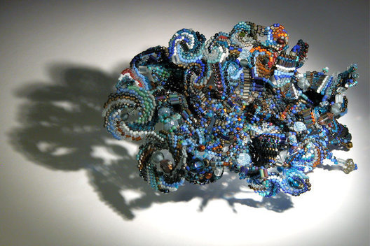 2003, materials: beads, semi-precious stones, precious metals, glass, thread