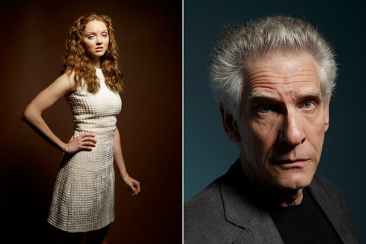 Lily Cole and David Cronenberg