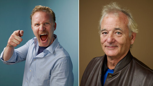 Morgan Spurlock and Bill Murray