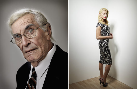 Martin Landau and Amber Heard