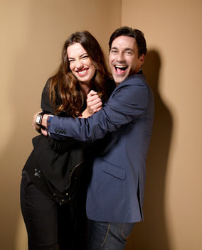 Rebecca Hall and Jon Hamm