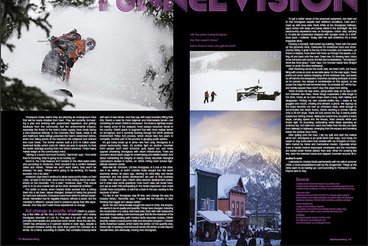 Assignment for Backcountry Magazine