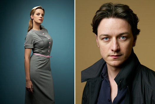 Carolina Bang and James McAvoy