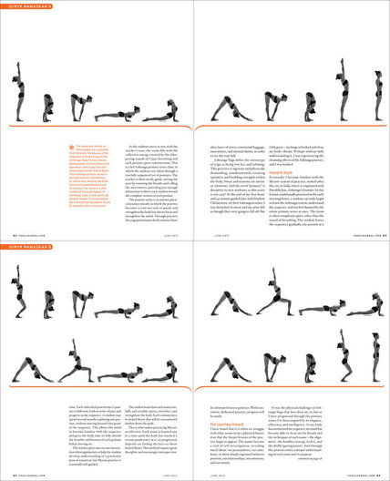 "feature article spreads, with images from ""The Beauty of the Sequence"""