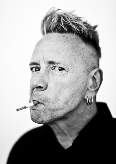 John Lydon aka Johnny Rotten of the Sex Pistols, photographed at the Andaz Hotel on Sunset Blvd., Hollywood, California, April 17 2015.