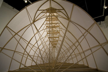 "This is a detail of the interior structure of the work ""Rudder""