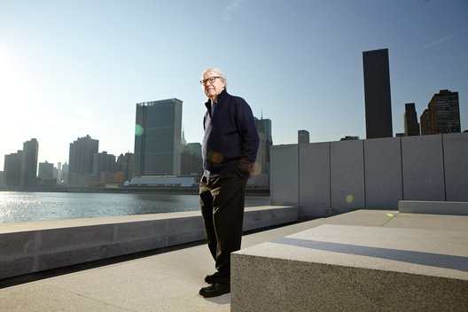 Bill Vander Heuvel in the Rooservelt Memorial.  Rooservelt Island, NYC