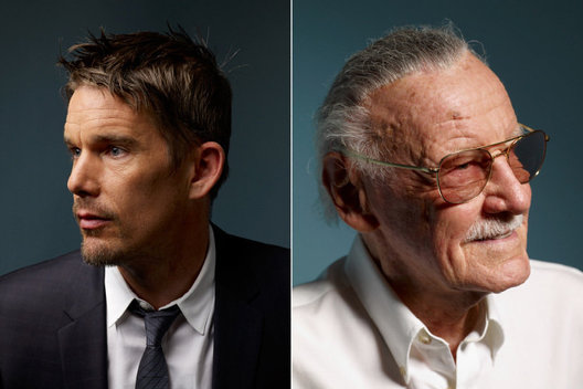 Ethan Hawke and Stan Lee